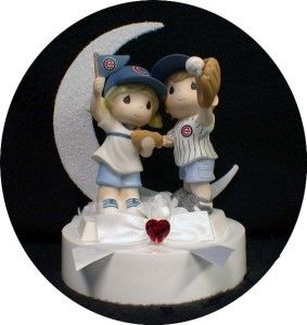chicago cubs wedding cake topper | Chicago Cubs Baseball Fans Wedding Cake Topper Fun Top | eBay