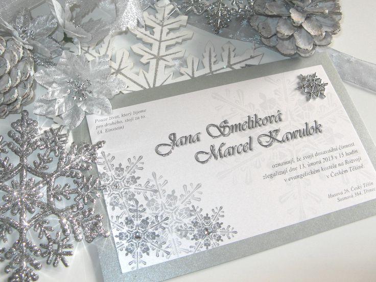 Winter Wedding Invitation Wording: DIY Winter Wedding Invitation