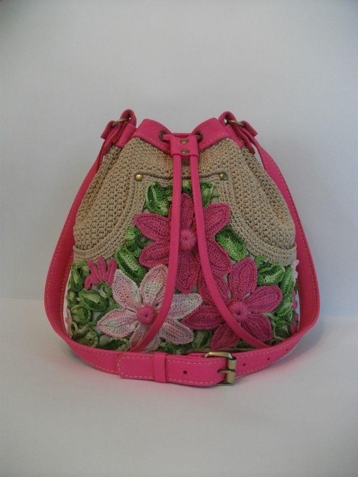 Вязаная сумка-мешок. 100% хлопок, натуральная кожа, ручная работа. Продается. Подробная информация: https://www.livemaster.ru/item/21304591-sumki-i-aksessuary-vyazanaya-sumka-meshok.