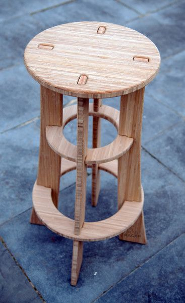 Hardware Free Bamboo Bar Stool for Stylish Buns. Our Maholla Stool is the bar stool re-imagined. Modern furniture designers too often design their furniture to require structural screws & hardware and                                                                                                                                                                                 Mais