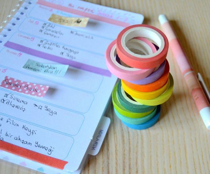 Renkli Yapışkan Şeritler 10 Adet SET/Tapes - Diğer 303589 | zet.com
