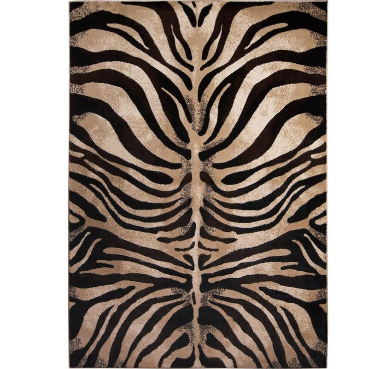 Edolie Animal Print BlackIvory Area Rug in 2020 Home