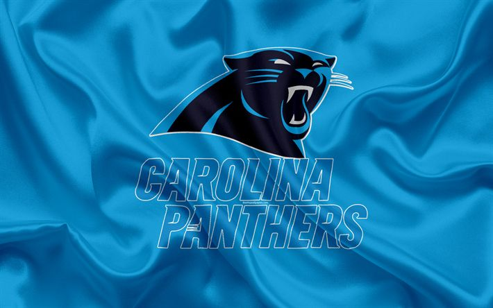 Download wallpapers Carolina Panthers, American football, logo, emblem, NFL, National Football League, Charlotte, North Carolina, USA, National Football Conference