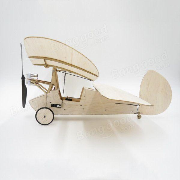 Flea Balsa Wood 358MM Wingspan Micro RC Airplane Newton Kit Com Sistema Elétrico Venda - Banggood.com