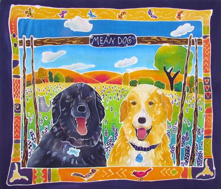 Картинки для батика собака