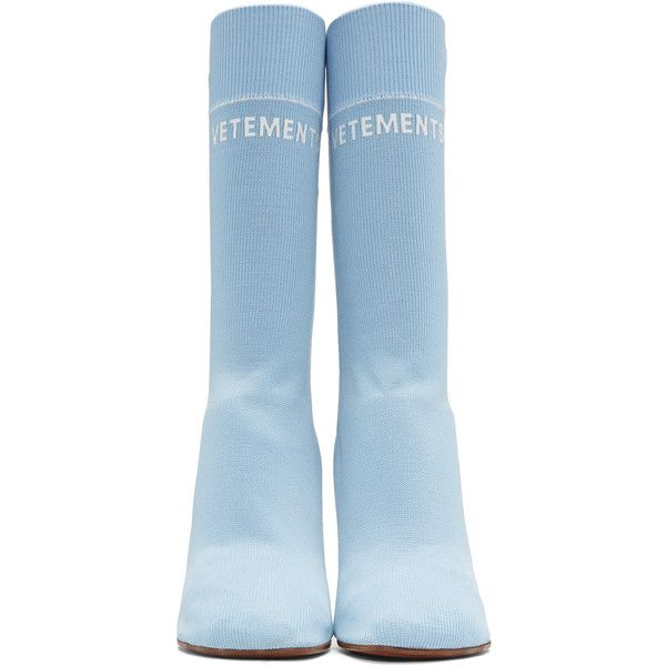 Vetements Blue Stars Lighter Sock Boots (25.338.685 VND) ❤ liked on Polyvore featuring shoes, boots, mid-calf boots, sock boots, blue shoes, star boots and multicolor shoes