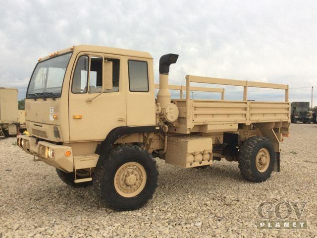 Surplus 1997 Stewart & Stevenson M1078 LMTV 4x4 Cargo Truck in Fort Riley, Kansas, United States (GovPlanet Item #594585)