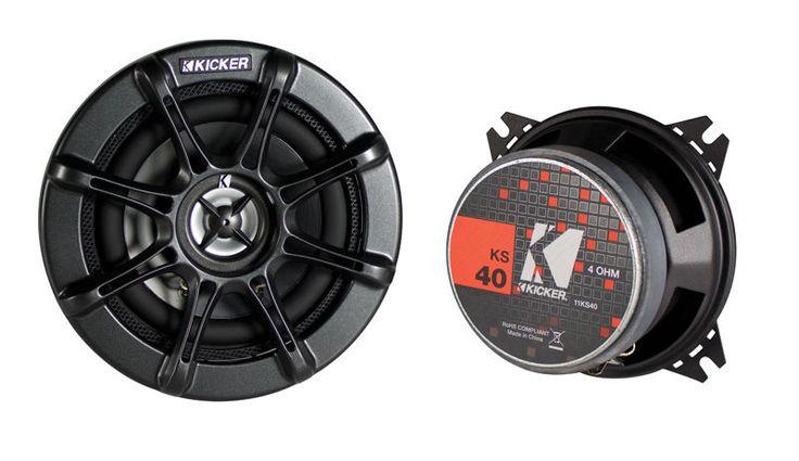 Kicker KS40 Ks Series 4-Inch 60 Watts Car Audio Coaxial Premium Speakers New