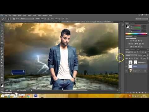 Photoshop CS6 Manipulation Photo Effects Tutorial | Change Background and blending - YouTube