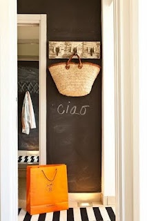 Ciao: Ideas, Chalkboards, Interior, Mudroom, Chalkboard Walls, Chalkboardpaint, Chalk Board, Mud Room, Chalkboard Paint