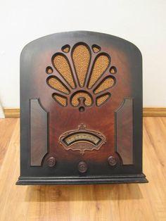 Vintage 1933 Echophone Gothic Depression Era Antique Old Cathedral Tube Radio   eBay