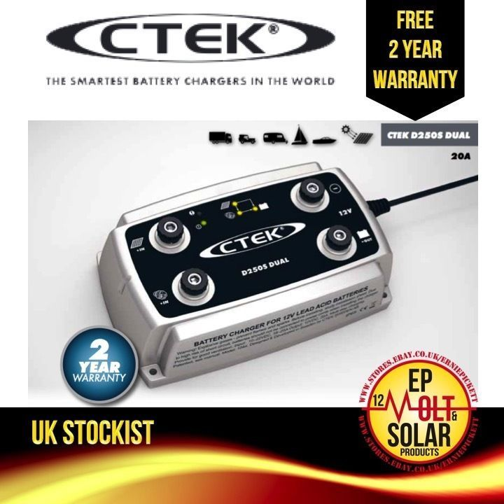 CTEK D250S Dual Input Battery Charger Split Charge Solar Alternator
