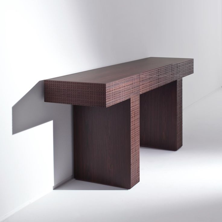 BD 38 - console table in wood with carved details and equipped with a drawer. Available in all of the woods of the collection and in special dimensions. Designed by Bartoli Design   Laurameroni