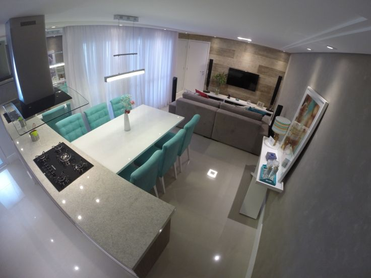 Living social com cozinha integrada!