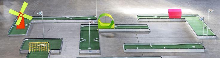 9 hole portable mobile mini miniature putt golf course aluminum mobile classic manufacturer