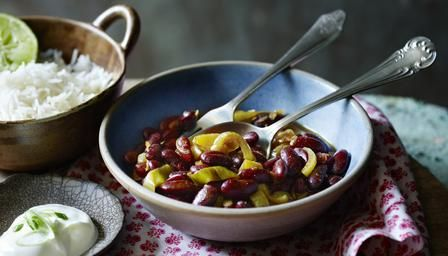 Kidney bean curry (rajma) from Rick Stein. Use in Nachos.