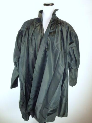 VINTAGE-NORMA-KAMALI-BLACK-TAFETTA-DRESS-COAT-DUSTER-DRAPED-LAGENLOOK-RARE