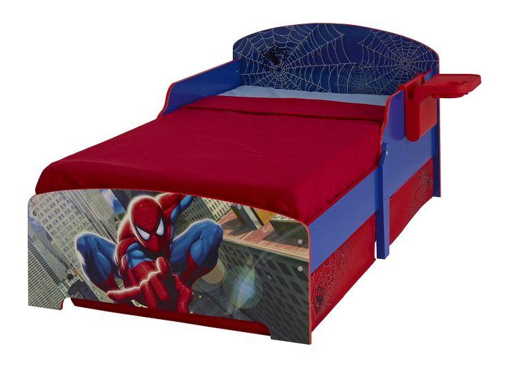 Pat Spiderman cu suport pentru carti si 2 sertare depozitare