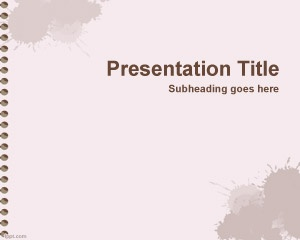 Free Exercise Book PowerPoint Template