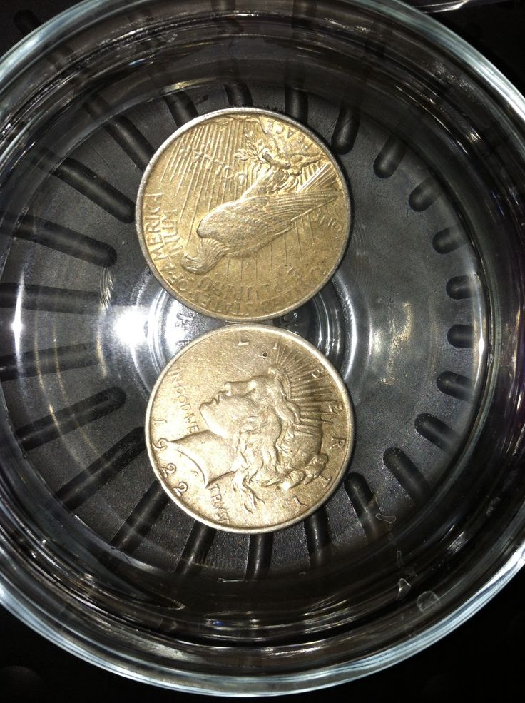 how to clean silver coins with vinegar
