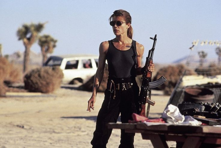 Sarah Connor (Linda Hamilton) - The Terminator. Does what's best for her family.