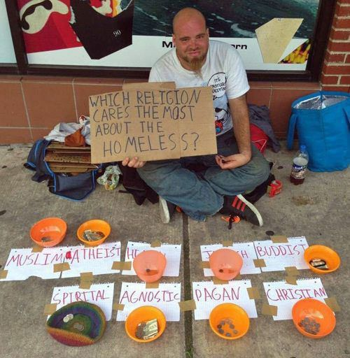 Clever homeless sign…