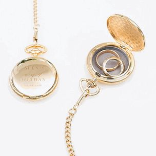 Personalized Pocket Watch Ring Holder