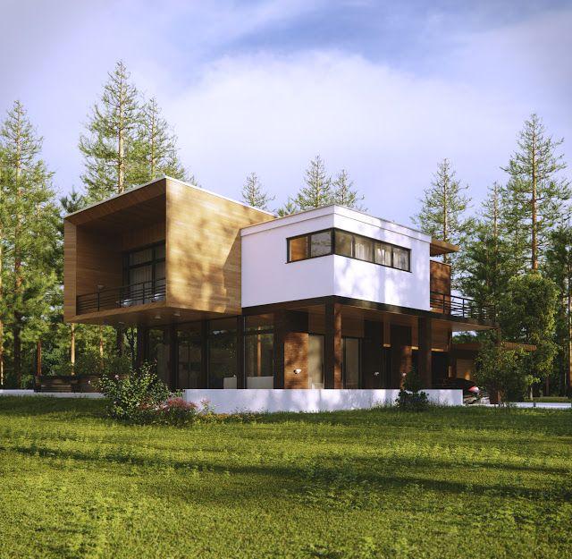 538 melhores imagens de fachadas no pinterest for Casas modernas acogedoras
