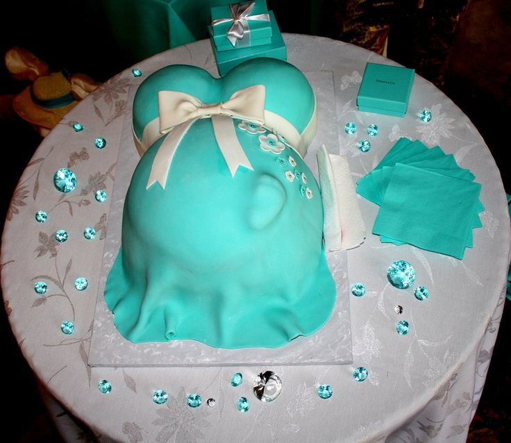 Tiffany Inspired Diapper Cakes For Baby Showers | Tiffany Blue Baby Shower  Cake