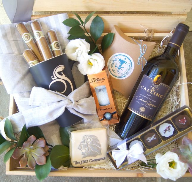 15 best ideas about wine gift baskets on pinterest wine for Great gift ideas for clients