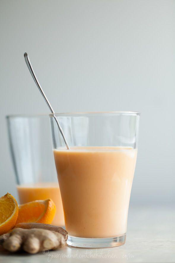 Tropical Sunshine Smoothie (Mango, Pineapple, Carrot, Orange)