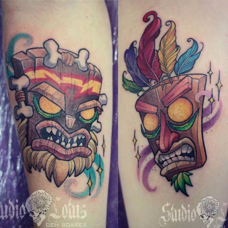 9 breathtaking aku aku tattoo designs for Crash bandicoot tattoo