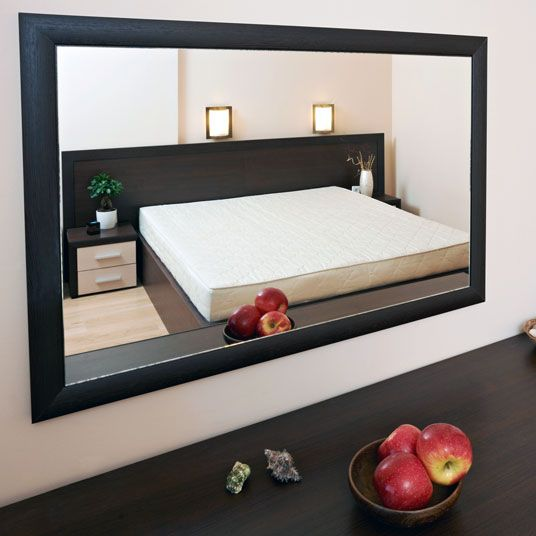 1000 images about black frames for mirrors on pinterest for Big bedroom wall mirror