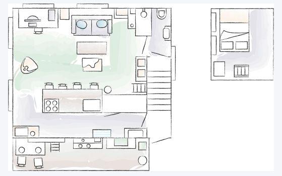 Plan de le petite maison de Kaoli