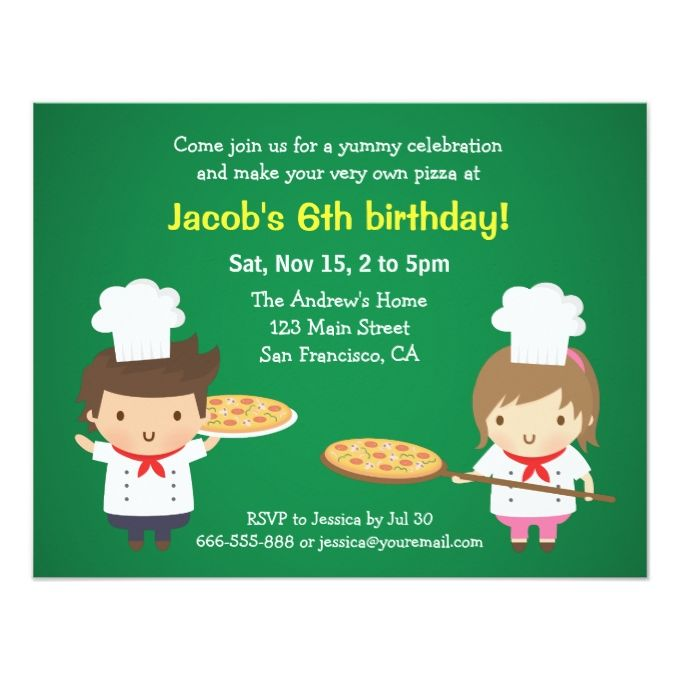 1390 best kids birthday invitations images on pinterest birthday cute pizza kids birthday party invitations stopboris Image collections