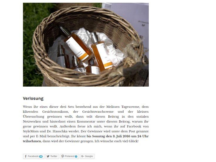Gewinnt 3 vegane Naturkosmetik Sets von Dr. Hauschka! Bei StyleMom könnt ihr noch bis 3. Juli 2016 drei vegane Naturkosmetik...
