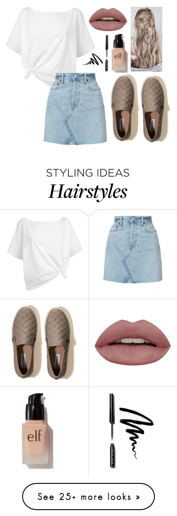 """quick set! RTD PLEASE!"" by alyssa-wilsonn on Polyvore featuring Red Herring, RE/DONE, Hollister Co., e.l.f. and Bobbi Brown Cosmetics"