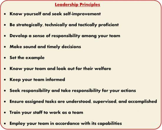 USMC - 14 Leadership Principles | Quotes | Pinterest ...