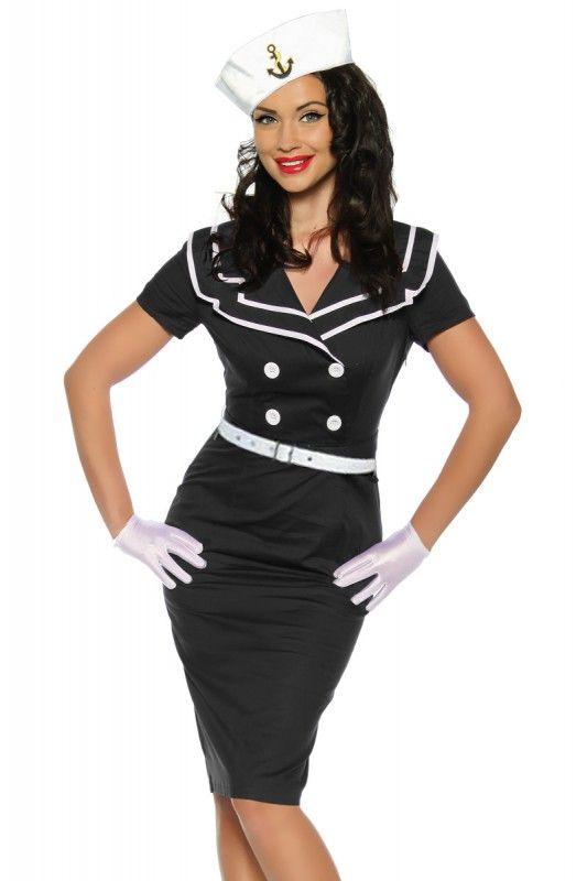 Pin-Up Vintage Kleid in schwarz - My-Kleidung Onlineshop