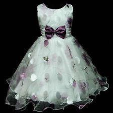 Natal Roxo US3211 Festa De Casamento Vestido De Meninas de flor Sz 3,4,5,6,7,8 Y