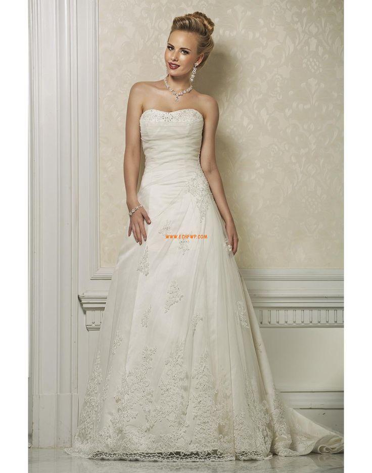 Délka dvorní Šněrování Empírové Svatební šaty 2014
