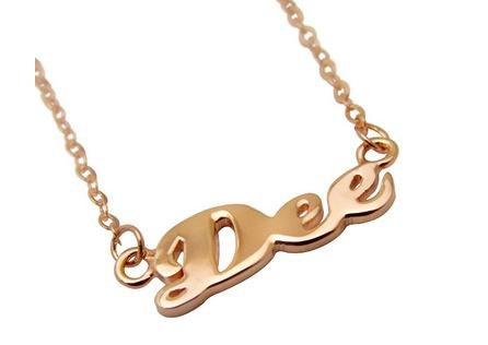 Rose Gold Plated Custom Made Name OR Word by madetoinspire on Etsy, $55.00