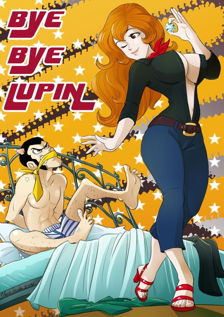 Fujiko_vs_Lupin_Scuderi by Skudo.deviantart.com