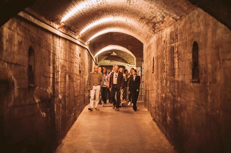 Visiting the ancient Berlucchi cellars, Franciacorta, Italy