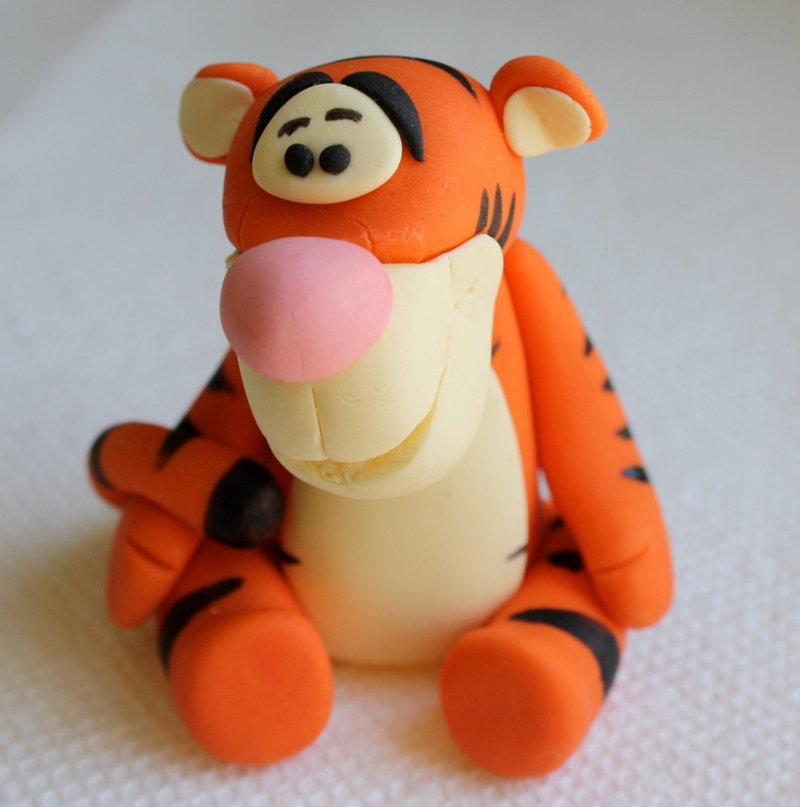 "Tigger ""Winnie the Pooh""  inspired Fondant Cake/Cupcake Topper. $24.95, via Etsy."