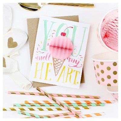Inklings Paperie Fruit Pop-up Greeting Cards - 3 Count,