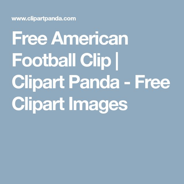 Free American Football Clip | Clipart Panda - Free Clipart Images