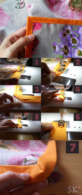 Mi primer video tutorial / Cómo coser un bies en pico o esquina