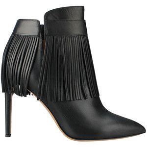 Валентино Гаравани Кожаный ботинки с бахромой