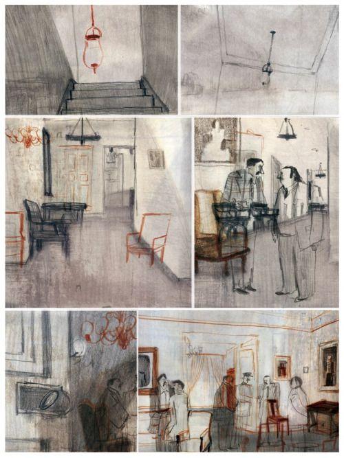 Sketchs para La Revue Dessinée acerca del Golpe de Estado en Chile (1973)